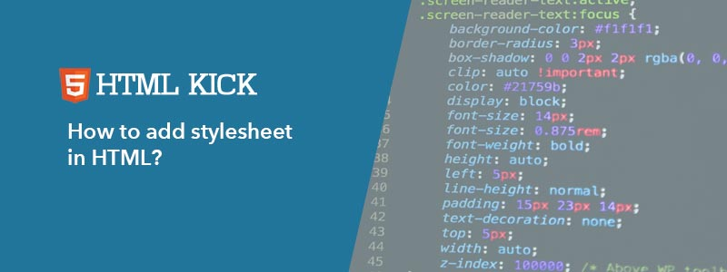 How to add stylesheet in HTML