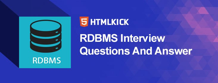 RDBMS Interview Questions And Answer