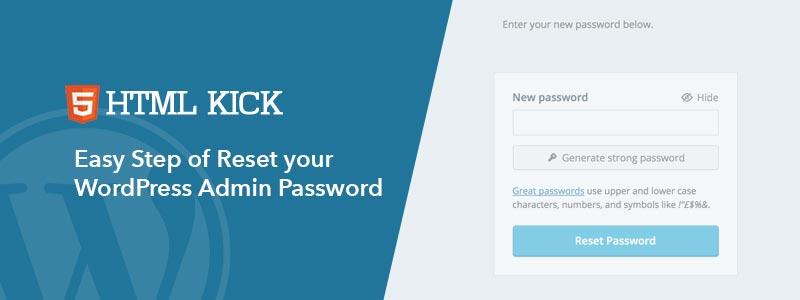 Reset your WordPress Admin Password