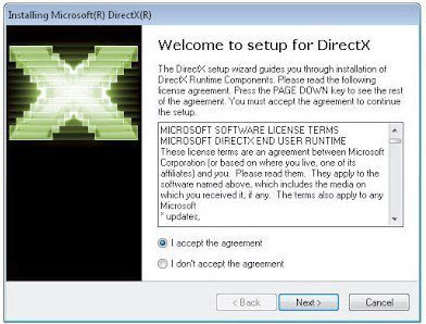 Download and install DirectX 11 in Windows 10 64-Bit