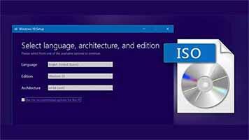 Windows 10 installation through the disc