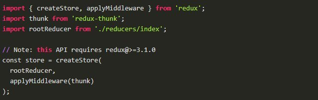 Use of Redux thunk