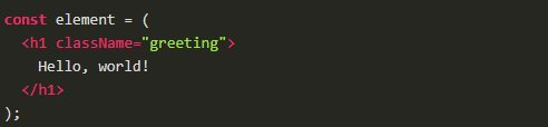 basic element in React with JSX