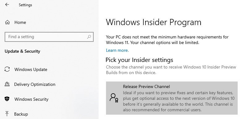 minimum hardware requirements for Windows 11
