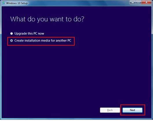 """Create an Installation Windows 10 ISO media"
