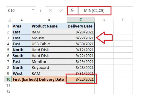 receive get earliest dates of delivery