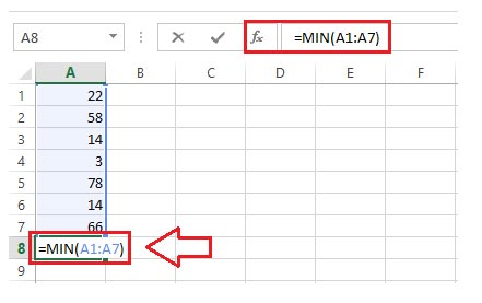 values in some variety of cells ranging